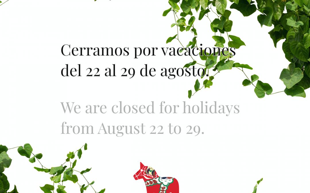 Vacaciones del 22 al 29 de agosto